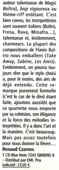 Article JAZZMAN Avril 2003
