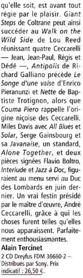 Article CHOC JAZZMAN Mars 2004