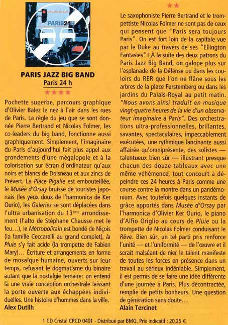 Article JAZZMAN avril 2004