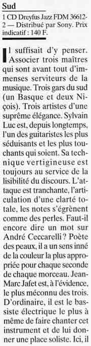 Article JAZZMAN juin 2000