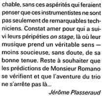 Article JAZZ MAGAZINE juin 2000